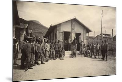Latrine of the Third Sector with Deportees in the Fonte D'Amore Camp in Sulmona--Mounted Photographic Print