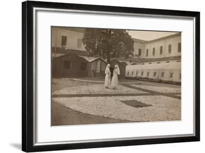 Pictures of War II: Red Cross Nurses in the Courtyard of the Orphanage, Vicenza--Framed Photographic Print