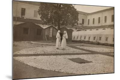 Pictures of War II: Red Cross Nurses in the Courtyard of the Orphanage, Vicenza--Mounted Photographic Print