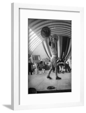 Coni Sporting Event: the Rate of Weight Lifting-Luigi Leoni-Framed Photographic Print