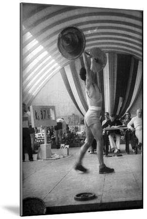 Coni Sporting Event: the Rate of Weight Lifting-Luigi Leoni-Mounted Photographic Print