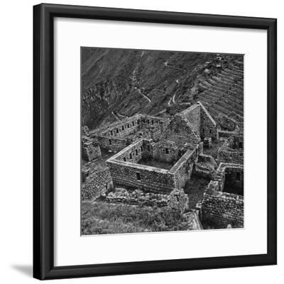 Ruins of Houses of the Lost City of the Incas, Machu Picchu, Peru-Pietro Ronchetti-Framed Photographic Print