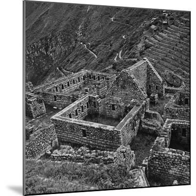 Ruins of Houses of the Lost City of the Incas, Machu Picchu, Peru-Pietro Ronchetti-Mounted Photographic Print