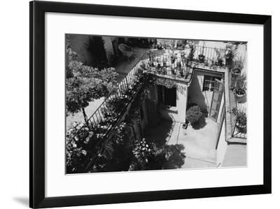 Hotel Terrace in Ravenna-Otto Zenker-Framed Photographic Print