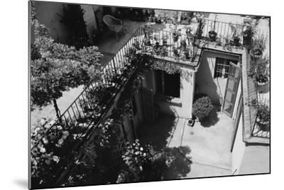 Hotel Terrace in Ravenna-Otto Zenker-Mounted Photographic Print