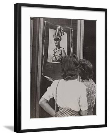The Head of Government Pietro Badoglio in a Photographic Portrait-Luigi Leoni-Framed Photographic Print