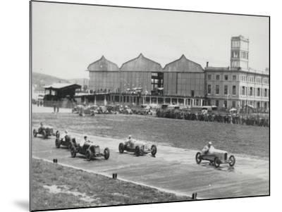 Racing Championship on the Runway of the Littorio-Luigi Leoni-Mounted Photographic Print