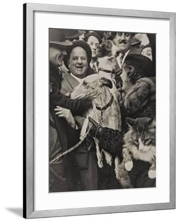 Dogs and Cats in their Arms with their Owners-Luigi Leoni-Framed Photographic Print