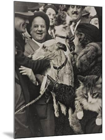 Dogs and Cats in their Arms with their Owners-Luigi Leoni-Mounted Photographic Print