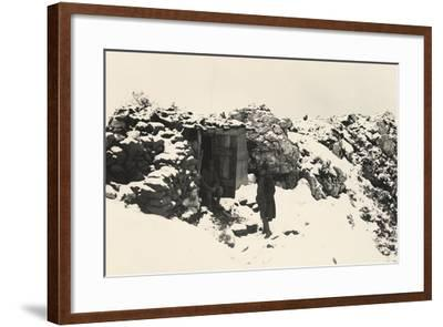A Command Post on Monte Nero During World War I-Ugo Ojetti-Framed Photographic Print