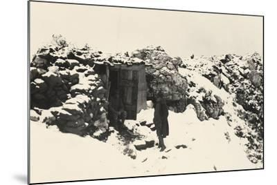 A Command Post on Monte Nero During World War I-Ugo Ojetti-Mounted Photographic Print