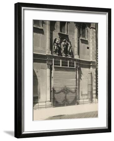 Protecting the Gates of Paradise of the Baptistery During the First World War, Florence-Giuseppe Giani-Framed Photographic Print