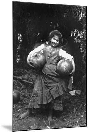 Peasant Girl with Pumpkins-Paolo Biondi-Mounted Photographic Print