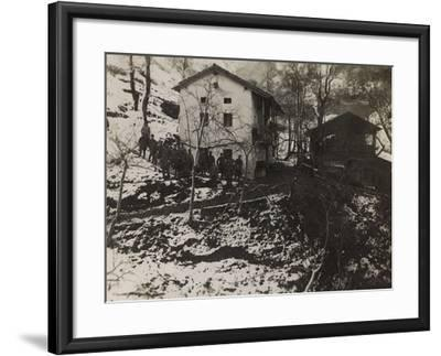 Buildings of the Section of Health in the Valley Doblar During the First World War-Luigi Verdi-Framed Photographic Print