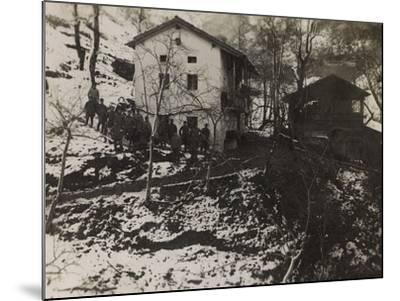 Buildings of the Section of Health in the Valley Doblar During the First World War-Luigi Verdi-Mounted Photographic Print