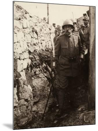 General Elia Inside a Trench with a Group of Soldiers. the Photo Was Taken May 1916-Ugo Ojetti-Mounted Photographic Print