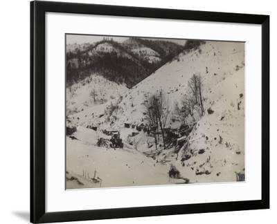 Military Barracks in the Valley Doblar During the First World War-Luigi Verdi-Framed Photographic Print