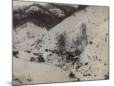 Military Barracks in the Valley Doblar During the First World War-Luigi Verdi-Mounted Photographic Print