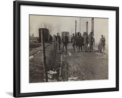 Pictures of War II: Italian Soldiers and Red Cross Ambulances in Gradisca Sagrado- Gigliucci-Framed Photographic Print
