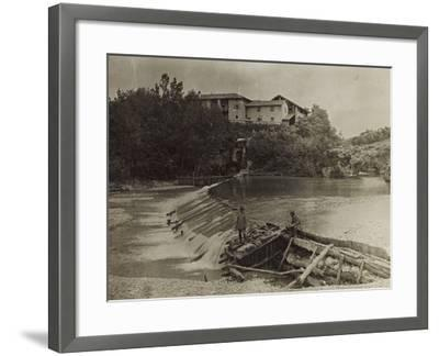 Mill on the River Natisone in Premariacco During the First World War-Luigi Verdi-Framed Photographic Print