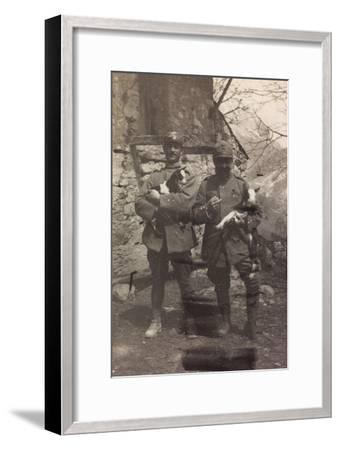 Free State of Verhovac-July 1916: Italian Soldiers with the Goats in Arm in Val D'Aupa--Framed Photographic Print