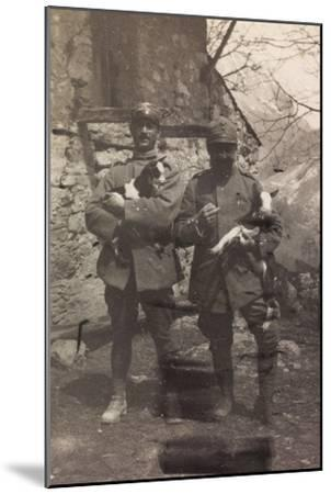 Free State of Verhovac-July 1916: Italian Soldiers with the Goats in Arm in Val D'Aupa--Mounted Photographic Print