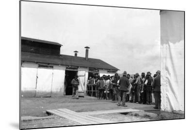 Internment Camp Katzenau, a Suburb of Linz, Austria: Prisoners in Line for the Meal--Mounted Photographic Print
