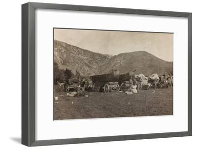 Free State of Verhovac-July 1916: Boats Used for the Construction of a Bridge in Maniago--Framed Photographic Print