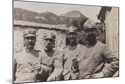 Free State of Verhovac-July 1916: a Group of Italian Soldiers in Bevorchians in Val D'Aupa--Mounted Photographic Print