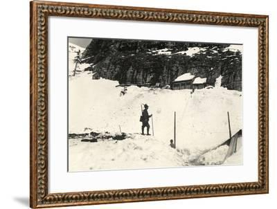 Command Posts on Pal Grande During World War I-Ugo Ojetti-Framed Photographic Print