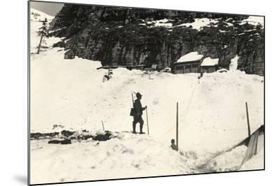 Command Posts on Pal Grande During World War I-Ugo Ojetti-Mounted Photographic Print