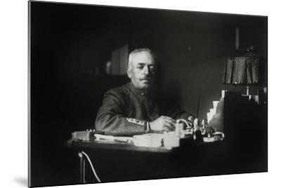 General Luigi Cadorna (1850-1928) at the Desk--Mounted Photographic Print