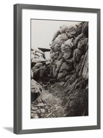 First World War: Soldier in the Trenches--Framed Photographic Print