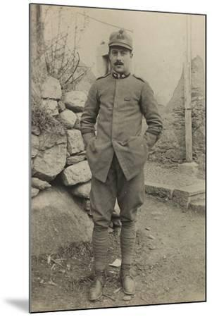 World War I: Portrait of Official--Mounted Photographic Print