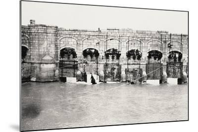 The Sluices on the Isonzo River at Sagrado During World War I-Ugo Ojetti-Mounted Photographic Print