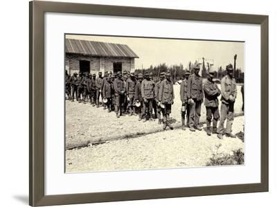 Austrian Prisoners in Bagnaria Arsa During World War I-Ugo Ojetti-Framed Photographic Print