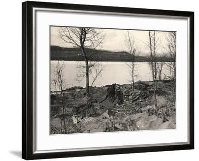 Peteano at the Isonzo River During World War I-Ugo Ojetti-Framed Photographic Print