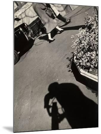 The Shadow of a Photographer on a Street in Rome-Luigi Leoni-Mounted Photographic Print