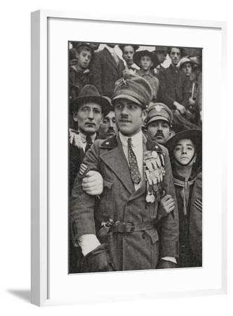 Visions of War 1915-1918: War Hero with Many Medals in the Chest-Vincenzo Aragozzini-Framed Photographic Print