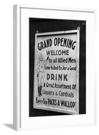 Billboard for a Party in Honor of Allied Troops-Luigi Leoni-Framed Photographic Print