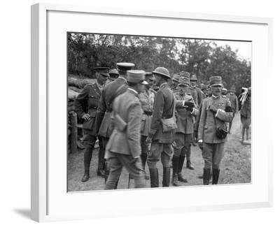 General Cadorna and General Porro Visit English Batteries During World War I-Ugo Ojetti-Framed Photographic Print