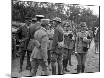 General Cadorna and General Porro Visit English Batteries During World War I-Ugo Ojetti-Mounted Photographic Print