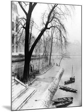 Along the Seine in Paris-Dusan Stanimirovitch-Mounted Photographic Print