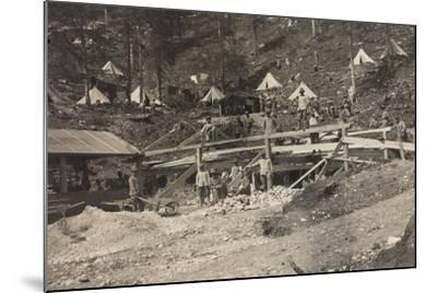 World War I: Vallone Tofana, Building a Barracks--Mounted Photographic Print