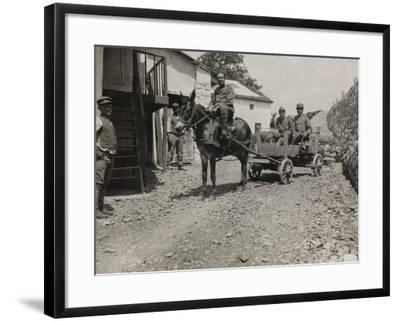 Ambulance 73 Officers During the First World War-Luigi Verdi-Framed Photographic Print