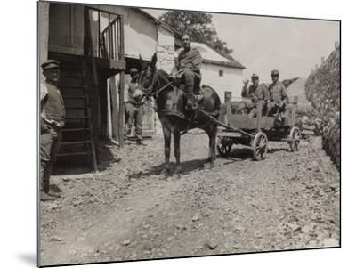 Ambulance 73 Officers During the First World War-Luigi Verdi-Mounted Photographic Print