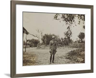 Campagna Di Guerra 1915-1916-1917-1918: Portrait of Jack Bosio in Santo Stefano--Framed Photographic Print