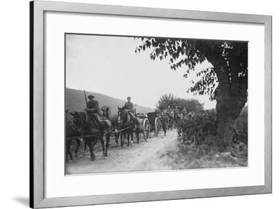 World War I: Command of the Artillery on the March to the War Front--Framed Photographic Print