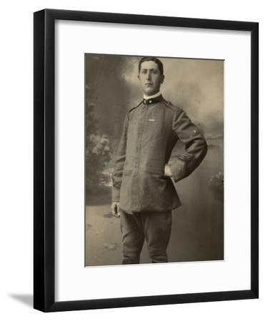 Infantry Soldier in Uniform--Framed Photographic Print