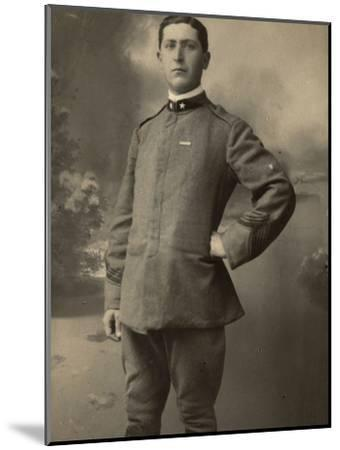 Infantry Soldier in Uniform--Mounted Photographic Print